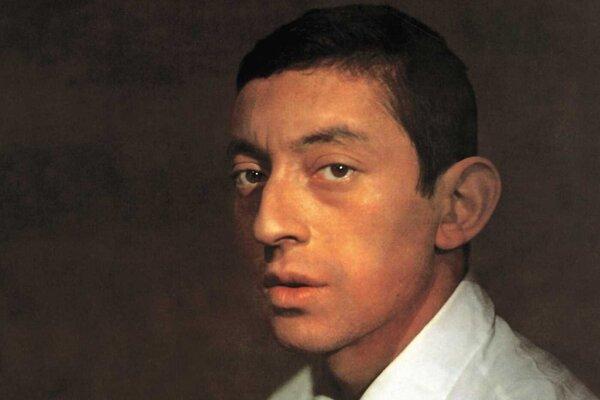 Serge Gainsbourg na obálke platne L´Étonnant Serge Gainsbourg.