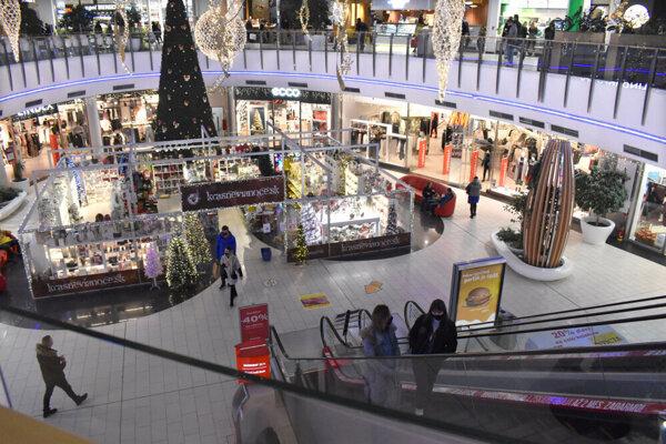 Obchodné centrum Optima tesne pred decembrovým zatvorením.