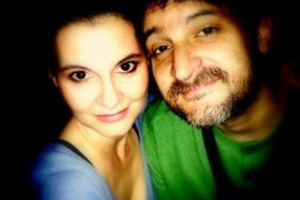 Herečka Lenka Barilíková s manželom - režisérom Michalom Spišákom.