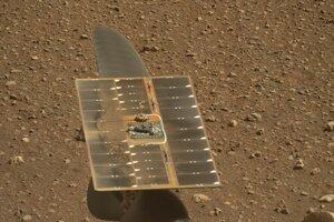 Solárny panel helikoptéry.