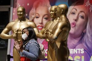 V Los Angeles pár dní pred Oscarmi.
