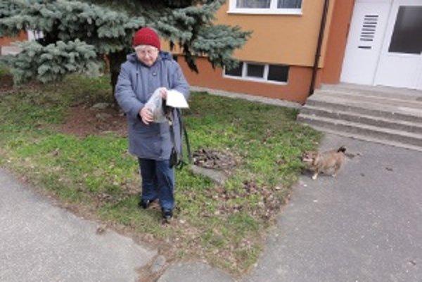 Pani Danka Tučková chodí na prechádzky s vreckami. Za neodpratanie výkalov po psovi hrozí bloková pokuta do 33 eur.