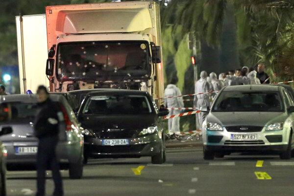 Miesto útoku v Nice.