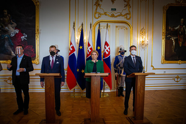Najvyšší ústavní činitelia SR podpísali sprievodný list k Plánu obnovy a odolnosti SR adresovaný predsedníčke Európskej komisie Ursule von der Leyenovej.