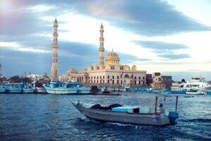 Hlavná mešita v centre Hurghady
