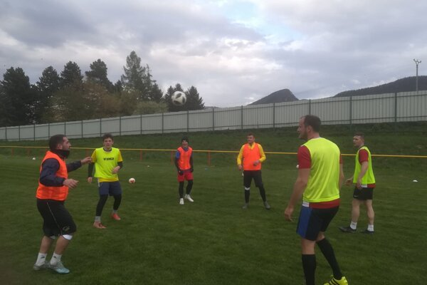 Momentka z tréningu futbalistov Višňového.