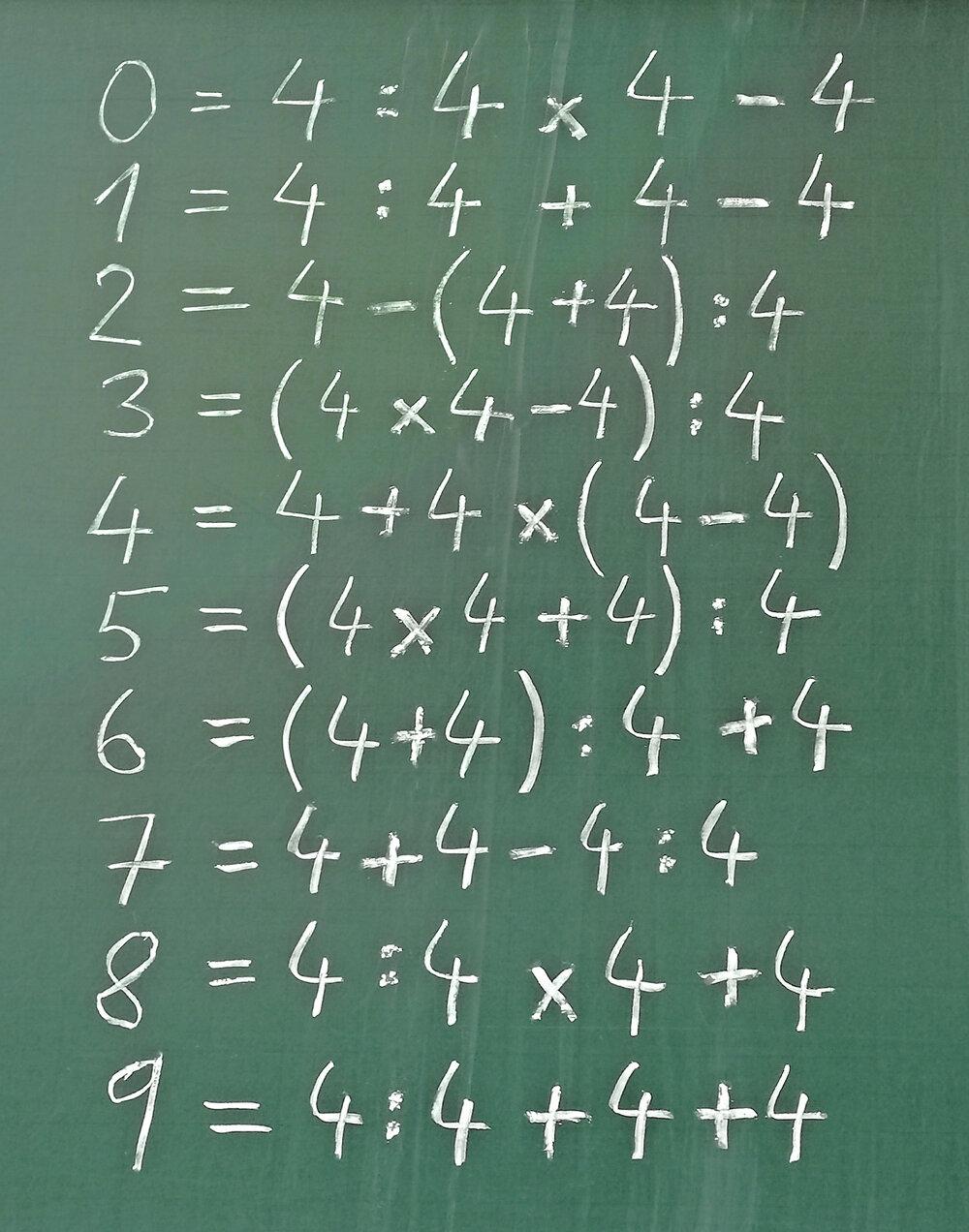 Jedno z možných riešení hry pre čísla od 0 do 9.