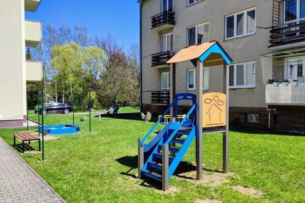 Nové ihrisko na Levočskej ulici.