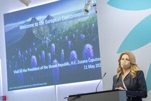 Prezidentka Zuzana Čaputová počas návštevy v Európskej environmentálnej agentúre.