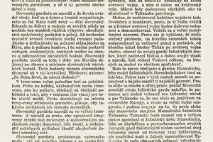 Vojtaššákov článok o Hlinkovej garde vyšiel v novinách Gardista na Vianoce 1939.