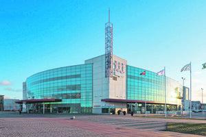 Riga Aréna, jeden z dvoch štadiónov, v ktorých sa budú odohrávať majstrovské zápasy.