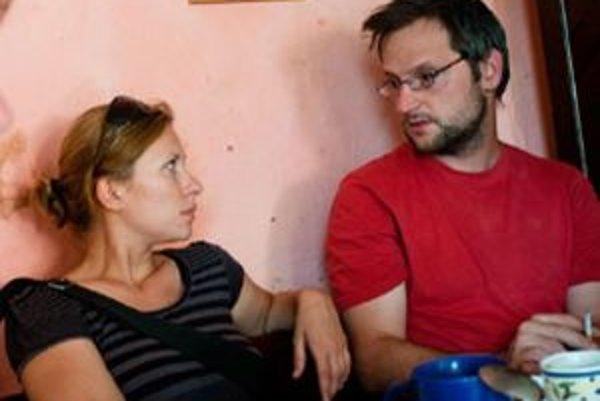 Dvaja z tvorcov filmu - scenáristi a režiséri Jana Bučka a Marek Šulík.