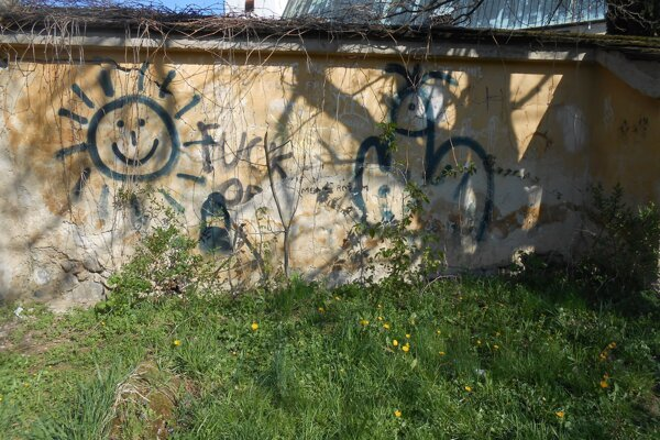 Múr sa stal obeťou vandalov.