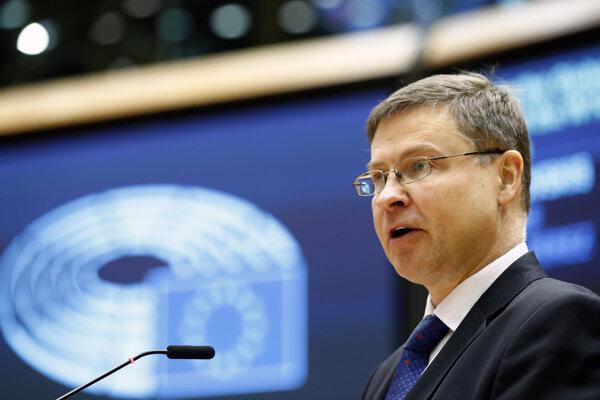 Podpredseda Európskej komisiezodpovedný za obchodnú politiku EÚ Valdis Dombrovskis.