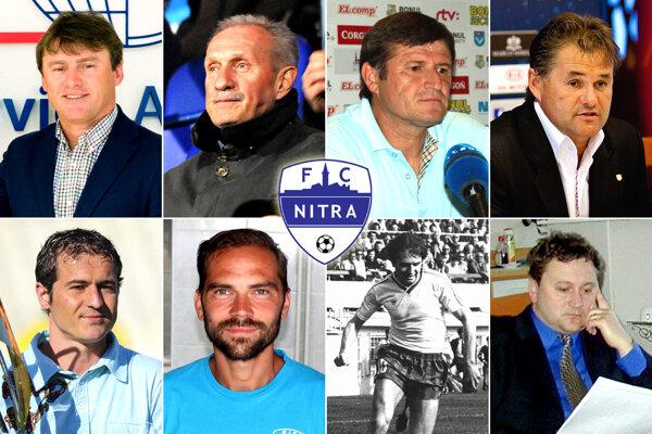 Hore zľava Ľ. Moravčík, M. Lešický, M. Hipp, I. Galád, dolu R. Rák, T. Kóňa, E. Gajdoš st. a F. Halás ml.
