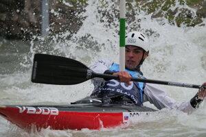 Tatranský slalom - sobota. Na snímke kanoista Martin Dodok.