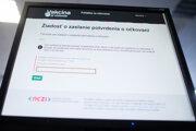 Elektronická žiadosť o očkovací certifikát na webe korona.gov.sk.