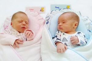 Ester Marková a Alexej Marko z Chvojnice sa narodili 25. 5. 2021 v Bojniciach