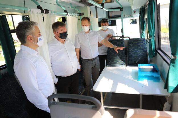 Novinka Košického kraja - očkovací autobus.