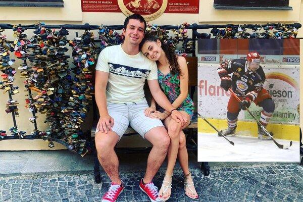 Patrik Marcinek s priateľkou