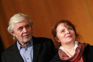 Libuše Šafránková s manželom Josefom Abrhámom na archívnej fotografii z roku 2013.