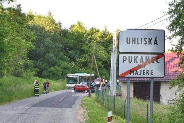 Nehoda za Pukancom.
