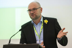 Richard Sulík počas príhovoru na kongrese SaS.