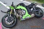 Takto skončil jeden z motocyklov.