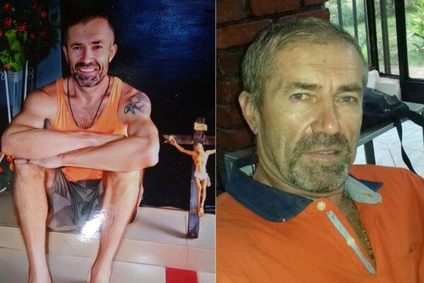 Ľuboš Kosík po príchode do Mali (vľavo) a teraz.