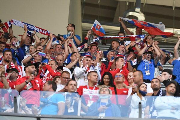 Ilustračné foto: Slovenskí fanúšikovia v Petrohrade počas zápasu Poľsko - Slovensko.