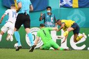 Penaltový zákrok brankára Martina Dúbravku.