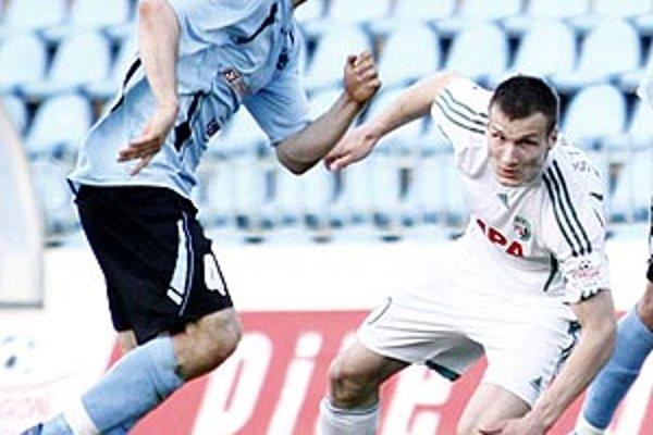 Lukáš Štetina (vpravo) na momentke s bývalým spoluhráčom Boszorádom.
