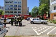 Taktické cvičenie dobrovoľných hasičov v Brezne.