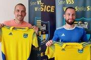 K novým hráčom v kádri FC Košice patria Dávid Guba (vľavo) a Dávid Gallovič.