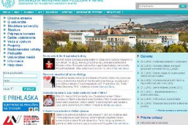 Web Univerzity Konštantína Filozofa skončil spomedzi stránok slovenských vysokých škôl na peknom štvrtom mieste.