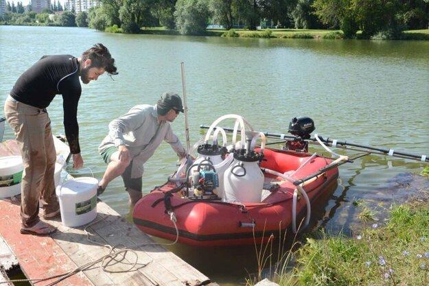 Český profesor Maršálek čistí košické jazero už niekoľko rokov.
