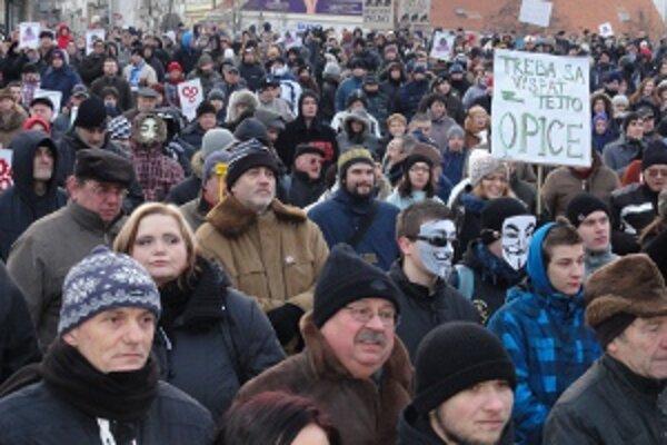 Protest v Nitre.
