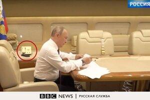 Ruský prezident Putin v lietadle