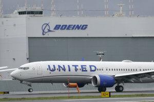 Lietadlo Boeing 737 Max 9 leteckej spoločnosti United Airlines.