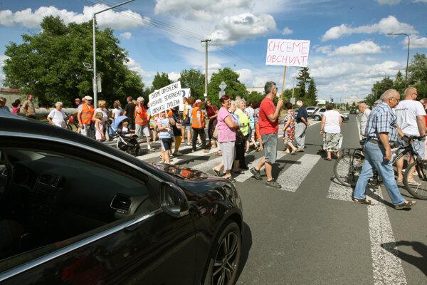 Protest vo Zvolene v roku 2017.