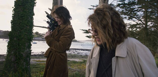 Charlotte Gainsbourg a Jane Birkin pri nakrúcaní filmu Jane podľa Charlotte.