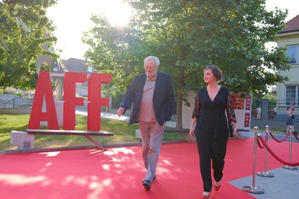 Milan Lasica s Barborou Petrovou.