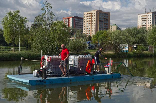 Vody jazera čistí odborný tím z Čiech šiesty rok.