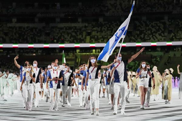 Tohtoročný izraelský tím na olympiáde v Tokiu.