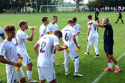Tréner Michal Ščasný dnes viedol veľmi mladé mužstvo FC Nitra.
