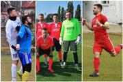 Róbert Kóša (vľavo v bielom) by mal zmeniť klub. V Šali získali piatich nových hráčov, plus troch dorastencov. Tretiu ligu si zahrá aj bývalý kapitán Serede Martin Mečiar.