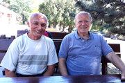 František Rapan (vľavo) a František Švec si zaspomínali na časy, keď obliekali dres AC Nitra.