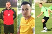 Traja futbalisti, ktorí zmenili klub a budú pôsobiť v 6. lige Galanta - zľava Adam Polednák, Enrico Kalocsai a Jakub Kača.