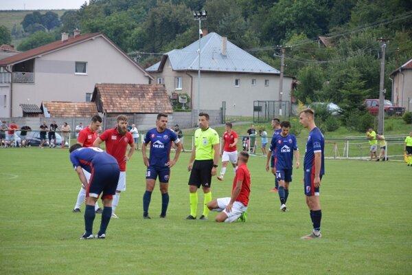 Momentka z pohárového zápasu Zvolena v Hont. Nemciach