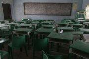 Trieda strednej dievčenskej školy v dedine Jangebe v severozápadnej časti Nigérie v pondelok 1. marca 2021.